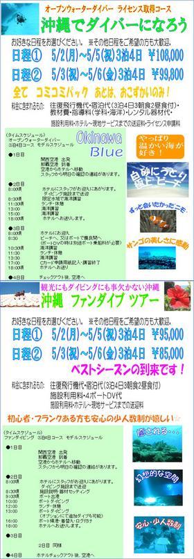 GW 沖縄 ダイビング特集
